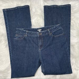 J Jill Dark Wash High Rise Bootcut Jeans Size 12